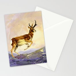 Pronghorn in the Morning Stationery Cards
