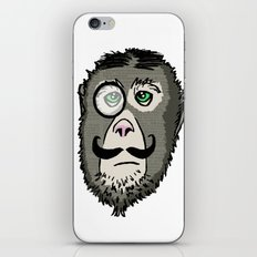 Detective Monkey Head iPhone & iPod Skin