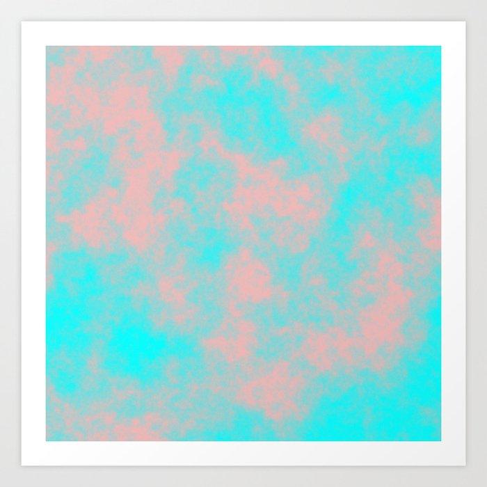 Cotton Candy Clouds - Pink & Blue Art Print