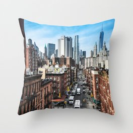 chinatown in nyc Throw Pillow
