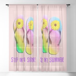 Step into Summer! Sheer Curtain