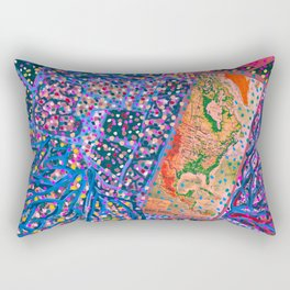 Map your dreams Rectangular Pillow