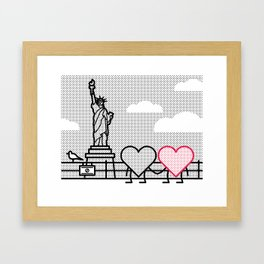 Taking in the sights Framed Art Print