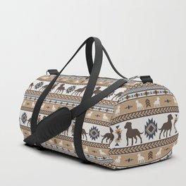 Boho dogs   Pitbull terrier tan Duffle Bag
