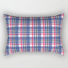Navy & red tartan plaid Rectangular Pillow