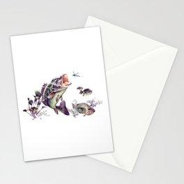 Largemouth Bass Stationery Cards