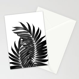 Palm Leaves Black & White Vibes #5 #tropical #decor #art #society6 Stationery Cards