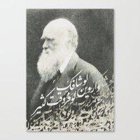darwin Canvas Prints featuring Darwin by Warsheh