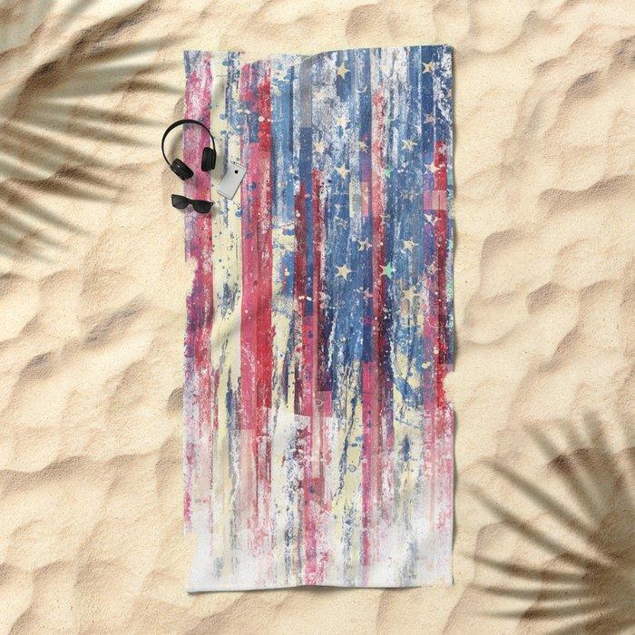 Amerikka Distress Beach Towel