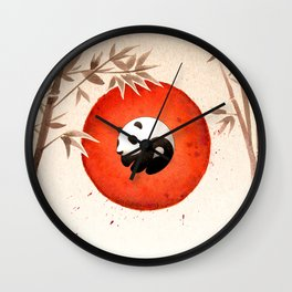 Panda yin-yang Wall Clock