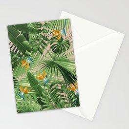 Bird of Paradise Jungle Leaves Dream #2 #tropical #decor #art #society6 Stationery Cards