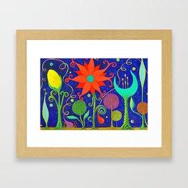 Vivacious Funky Foliage 2 Framed Art Print