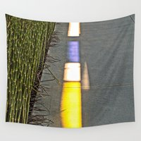 library Wall Tapestries featuring Library Line  by Ethna Gillespie