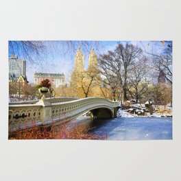 New York City Central Park Winter Rug