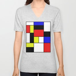 Mondrian #21 Unisex V-Neck