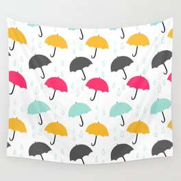 Umbrellas Wall Tapestry