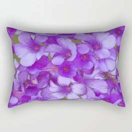 Purple Oxalis Rectangular Pillow