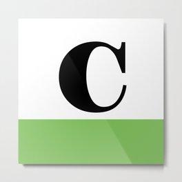 Monogram Letter C (color block) Metal Print