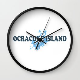 Ocracoke Island - North Carolina. Wall Clock
