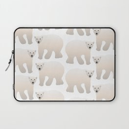 Adorable Polar Bear Pattern Laptop Sleeve