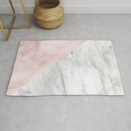 Marchionne Bianco & Silvec Rosa marble soft pink Rug