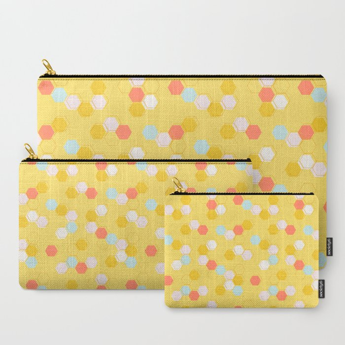 Honeycomb - Sunshine Yellow Carry-All Pouch