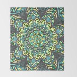 Flower Power - Mandala Art Throw Blanket