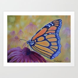King of butterfly | Le roi des papillons Art Print