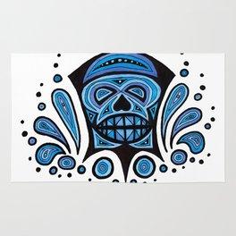 Blue Skull Rug
