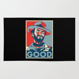 """Clint Eastwood """"Hope"""" Poster Rug"""