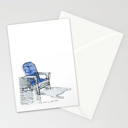 sitting poolside Stationery Cards