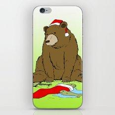 Santa Bear iPhone Skin