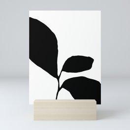 Three Leaf Seedling - Black and White Botanical Mini Art Print