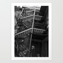 Stairway to the Past Art Print