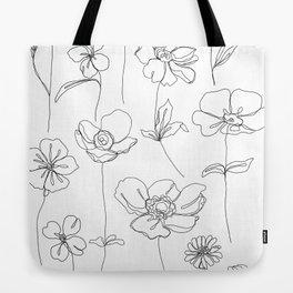 Botanical illustration drawing - Botanicals White Tote Bag