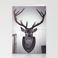 antlers Stationery Cards featuring Antlers  by Mark Spence