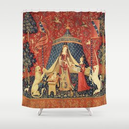 Lady and Unicorn Shower Curtain