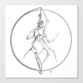 """Weaver of woe"", the suicidal spider woman Arachne Canvas Print"