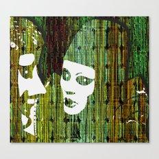 LOVE BETWEEN MASKS Canvas Print