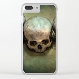 Three human skulls Clear iPhone Case