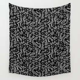 stacked dice black with white pips Wall Tapestry