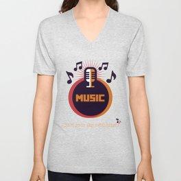 Music design Unisex V-Neck