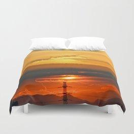 Sunset Horizon Duvet Cover