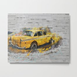 Spray Paint - Cab Metal Print