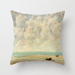 The Calm Sea - Gustave Courbet Throw Pillow