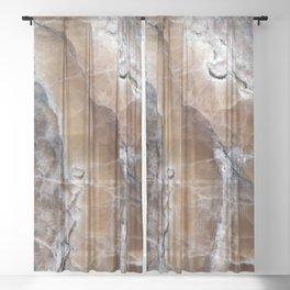 Marble Paint Formation Sheer Curtain