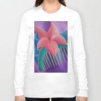 mulan Long Sleeve T-shirts featuring Mulan Flower by Jgarciat