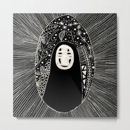 No Face Doodle Metal Print