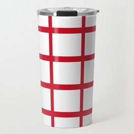Abstraction from the Flag of england Travel Mug
