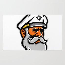 Seadog Sea Captain Head Mascot Rug